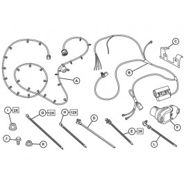 authentic mopar trailer tow wiring harness - 82214522ac | mopar online parts  mopar online parts