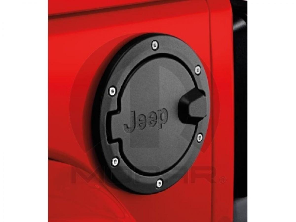 New For 2007-2016 Jeep Wrangler Satin Black Fuel Filler Door 82210609AC